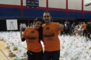 Co-founers Rob Chopra and Liliana Salazar Jaramillo of the Chicago Thanksgiving Basket Brigade.