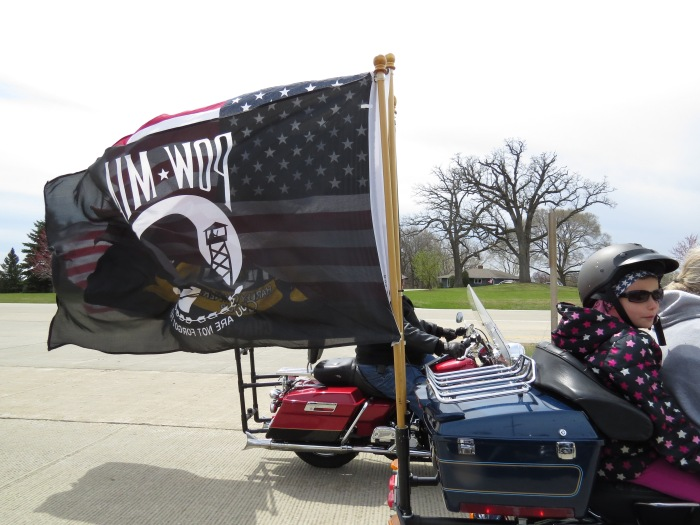 I was talking with various riders and everyone spoke of how the group is an extended family that not only comes to the aid of each other in times of need but also donates time to various local charities.  Harley Davidson riders are extremely supportive of keeping POW / MIA's in the collective conscious.