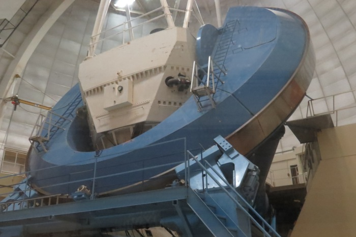 Visitors are not allowed to go inside the actual room to see the telescope. Everyone must stay behind the glass in the observing room where the Docent provides information and facts of the telescope and its role in astronomy along with answering all your questions.
