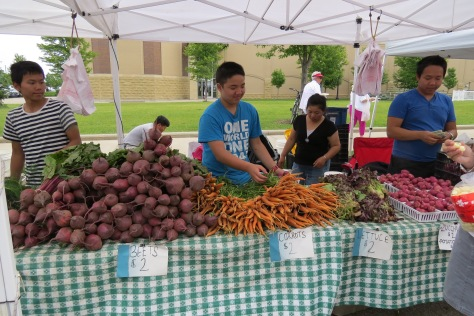 I love locally grown food. It is in abundance and the farmers take such pride in their creation.